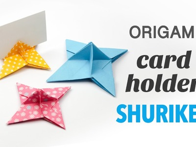 Origami Ninja Star Card Holder Tutorial ♥︎ Party Origami ♥︎