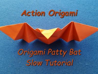 Origami Patty Bat Slow Tutorial, Origami Bat