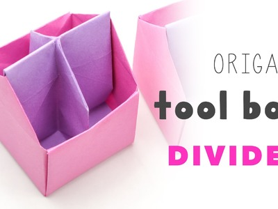 Origami Tool Box | 4 Section Divider