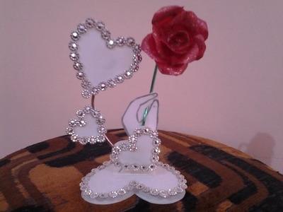 Best Out Of Waste Plastic  Fabulous Valentine Heart Showpiece