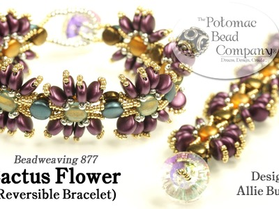Cactus Flower Reversible Bracelet (Tutorial)