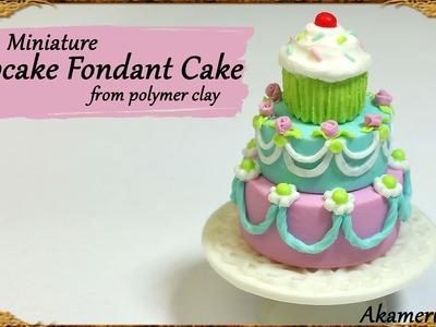 Cute Miniature Cupcake Cake - Polymer Clay Tutorial
