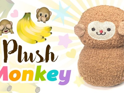 DIY Monkey Plush - Make A Cute Monkey For Just $2.50 Using SOCKS!!