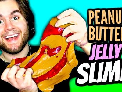 DIY Peanut Butter Jelly Slime! | How To Make Slime Look Like PB&J Tutorial! | Fun & Easy DIY!