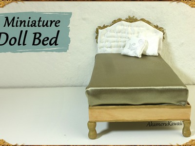 Elegant Miniature Doll Bed - Polymer Clay.Mixed media Tutorial