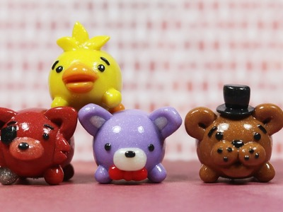[Five Nights At Freddy's] FNAF Tsum Tsum clay Tutorial: Freddy, Chica, Bonnie & Foxy