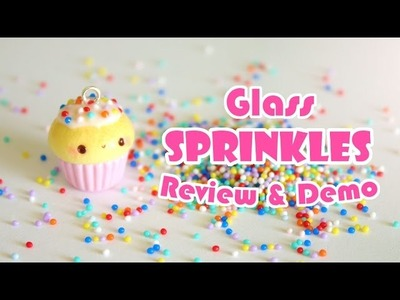 Glass Sprinkles for Polymer Clay Review.Demo