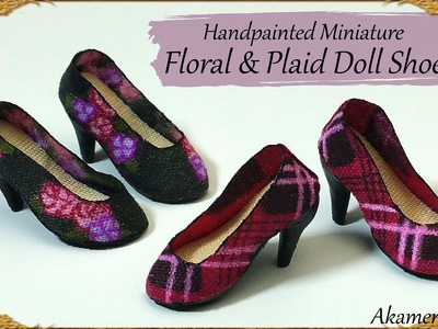 Handpainted Miniature Doll Shoes - Polymer Clay.Fabric Tutorial