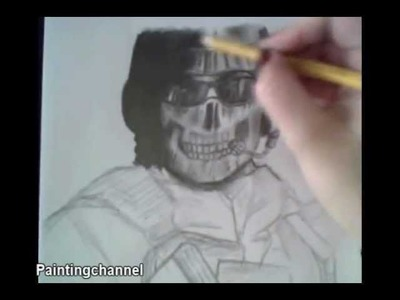 How to draw Call of Duty - Ghost