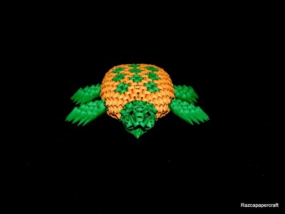 How to make 3d origami Turtle part2