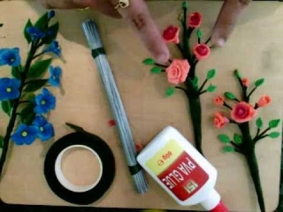 How to make clay flowers: step 1: Things you need