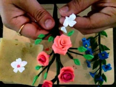How to make Clay Flowers: Step 3: Flower making