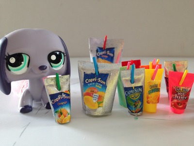 How to make mini LPS.Doll Capri Sun