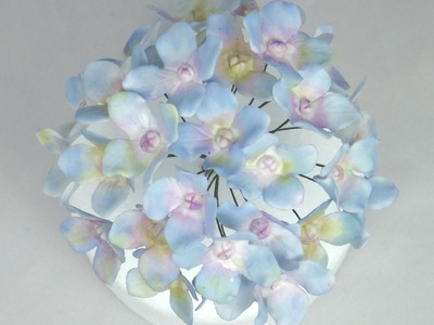 How to make Wired Hydrangea Sugar Flowers with Flower Paste.Gumpaste Tutorial Fancy Cakes by Linda