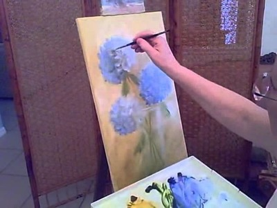 How to paint Hydrangeas-Part1
