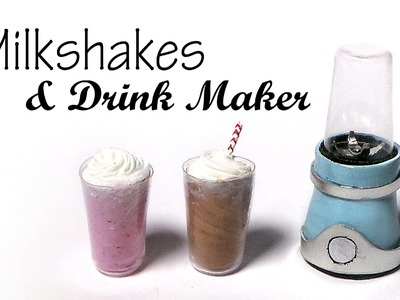 Milkshakes & Drink Maker. Blender - Polymer Clay Tutorial