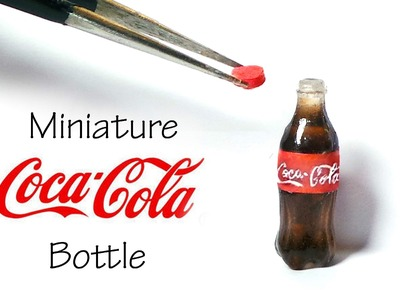 Miniature Coca Cola Inspired. Soda Bottle Tutorial (Resin)