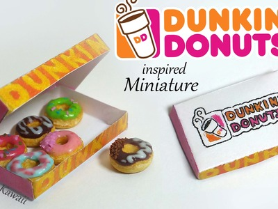Miniature Dunkin Donuts (inspired) - Polymer Clay Tutorial