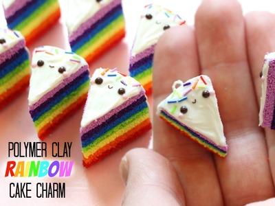 Polymer Clay Rainbow Cake Charm Tutorial