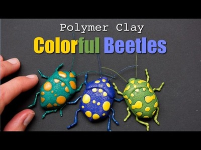 Polymer Clay True Bug Sculpture. Easy Fimo Tutorial of Pachycoris torridus