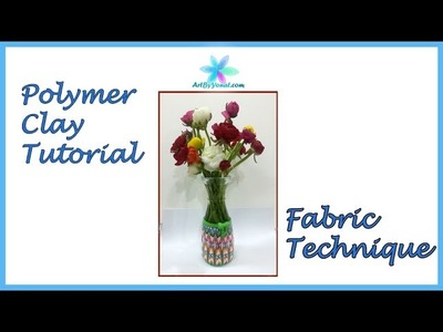 Polymer Clay Tutorial - Fabric Technique - Lesson #46