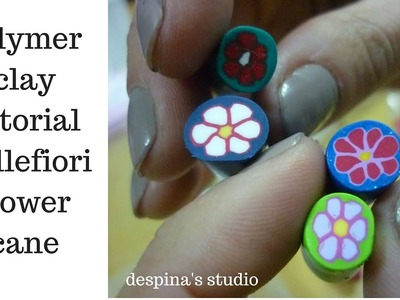 Polymer clay tutorial Flower cane (basic)