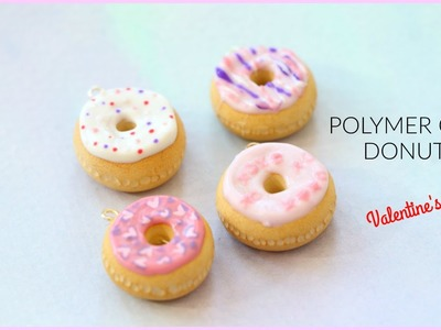 Polymer Clay Tutorial for Beginners - Valentine's Day Donuts