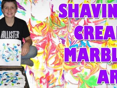 SHAVING CREAM MARBLE ART Easy Kids Science
