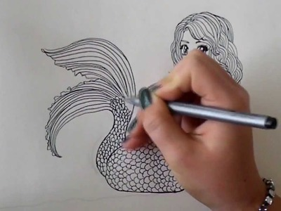 How to draw a Mermaid -step by step