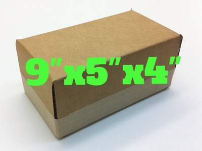 "How to make a 9"" x 5"" x 4"" cardboard box"