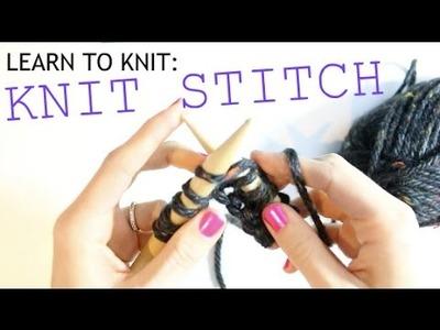 Learn to Knit: Knit Stitch