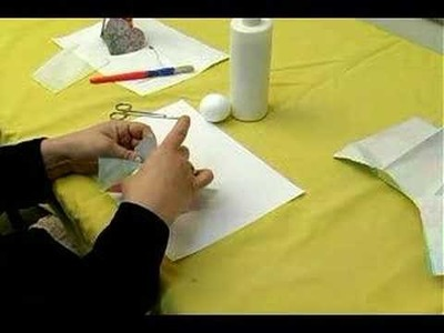 Making Personalized Decoupage Items : Fitting a Napkin on a Styrofoam Ball in Decoupage Hanging Decoration