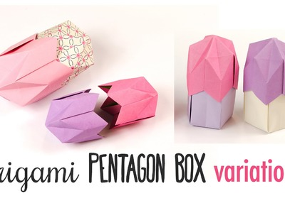 Origami 5 Sided Crown Box Variations ♥︎ Origami Egg Box