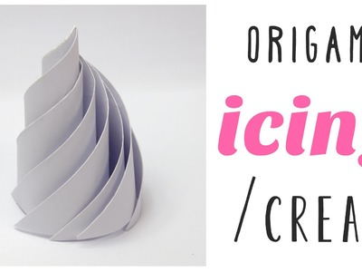 Origami Icing or Whipped Cream Tutorial ♥︎ DIY ♥︎