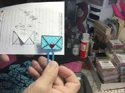 Pocket Letter Pal - Mini envelope paperclips