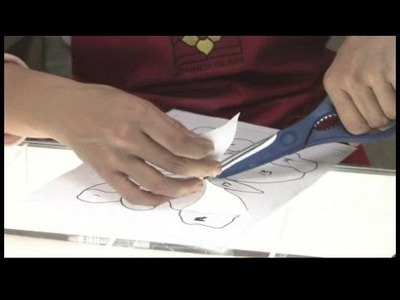 Preparing Glass for Stained Glass Projects : Cutting a Paper Pattern for Stained Glass Projects