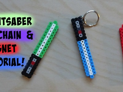 STAR WARS Perler Bead Lightsaber Keychain and Magnets Tutorial