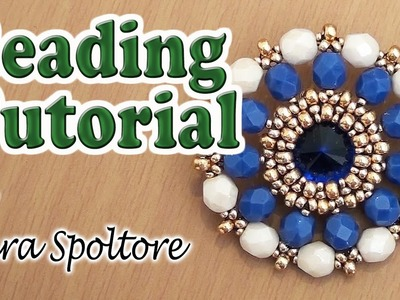 BeadsFriends: beaded bezel crystal - Beading tutorial - Beaded pendant
