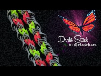 DRAKI STITCH Hook Only bracelet tutorial