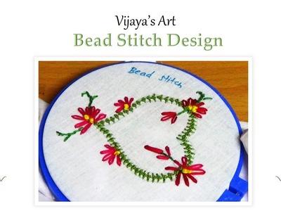 Embroidery Work Designs - Bead Stitch Design