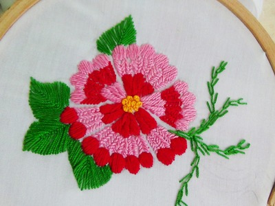 Hand Embroidery: Flower stitch (Swedish embroidery)