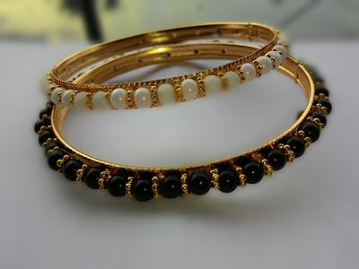 How to make a Beaded Bangles - YouTube