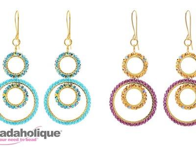 How to Make the Jasmine Earrings featuring True2 Czech Fire Polish Glass Beads