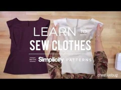 Learn to Sew Clothes with Simplicity + Creativebug