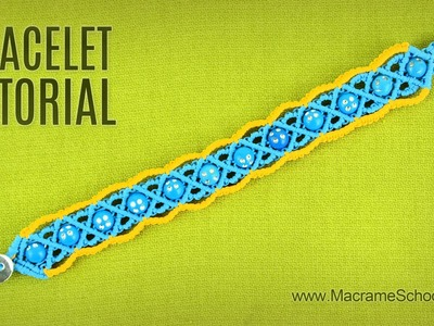 Macramé Summer Bracelet Tutorial by Macrame School