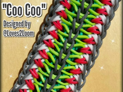 "New ""Coo Coo"" Rainbow Loom Bracelet. How To Tutorial"