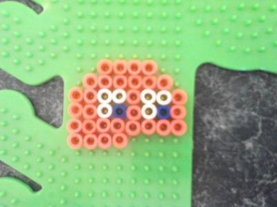 Perler bead tutorial; Pacman ghost