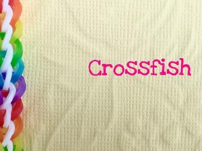 Rainbow Loom Bands Crossfish Easy Bracelet tutorial