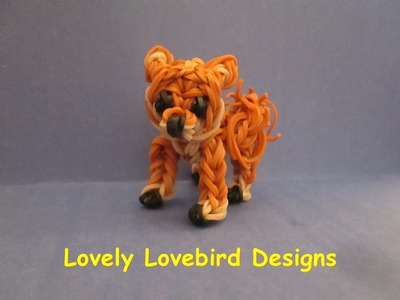 Rainbow Loom Shiba Inu Dog or Puppy Charm. 3-D.