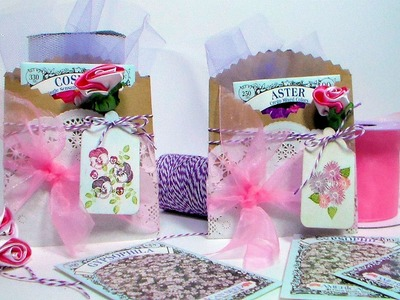Seed Packet Holder. Mother's Day Card.Invitation